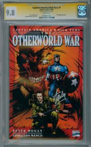 Captain America Nick Fury Otherworld War #1 CGC 9.8 Signature Series Signed Stan Lee Marvel comic book
